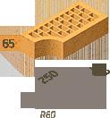Кирпич клинкерный фасонный Керамейя Клинкерам  250x120x65 мм Жемчуг 36%, фото 6