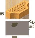 Кирпич клинкерный фасонный Керамейя Клинкерам  250x120x65 мм Жемчуг 36%, фото 8