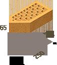 Кирпич клинкерный фасонный Керамейя Клинкерам  250x120x65 мм Жемчуг 36%, фото 9