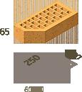 Кирпич клинкерный фасонный Керамейя Клинкерам  250x120x65 мм Магма Диабаз 36%, фото 3