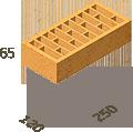 Кирпич клинкерный Керамейя Клинкерам  250x120x65 мм Магма Топаз Пр1 48%, фото 3