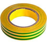 Изолента ПВХ 18 мм х 18 м желто-зеленая LEBRON