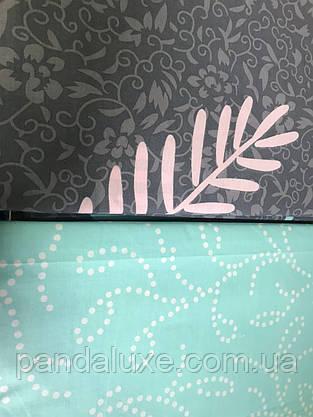Постельное белье бязь голд, двуспальный евро комплект Листья, фото 3