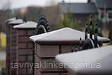 "Клинкерная крышка на забор KingKlinker ""Коричневый натура (03)"" 445х455х90мм, фото 2"