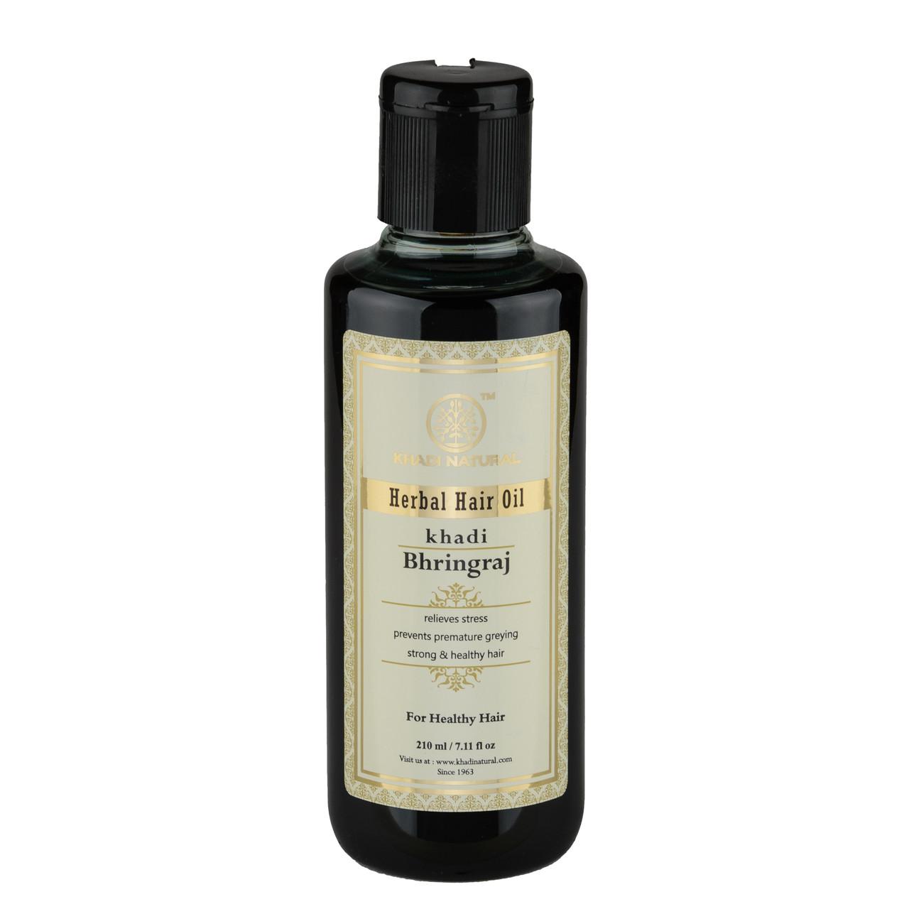 """Аюрведичне масло для волосся """"Брингарадж"""" 210 мл, Кхаді Herbal hair oil Bringaraj 210 ml Khadi"""