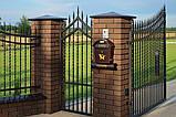 Клинкерная крышка на забор KingKlinker Полярная ночь (08) 310х310х80мм, фото 2