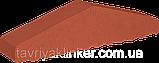 Парапет крышка клинкерная на забор Рубиновый красный (01), фото 4