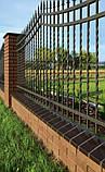 Парапет крышка клинкерная на забор Рубиновый красный (01), фото 5