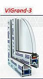 Глухое металлопластиковое окно VIGRAND 3 кам 1300*1400 , фото 2