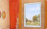 Глухое металлопластиковое окно VIGRAND 3 кам 1300*1400 , фото 4