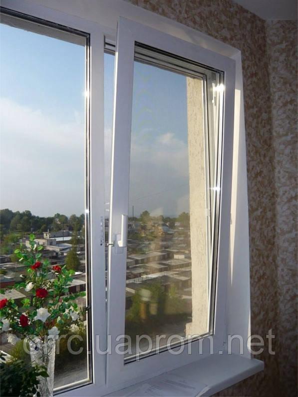 Поворотно-откидное двухчастное окно VIGRAND 3 кам 1300*1400