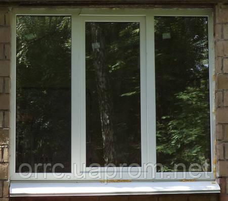 Поворотно-откидное трехчастное окно VIGRAND 3 кам 2100*1400