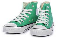 Кеды Converse All Star зеленые высокие, фото 1
