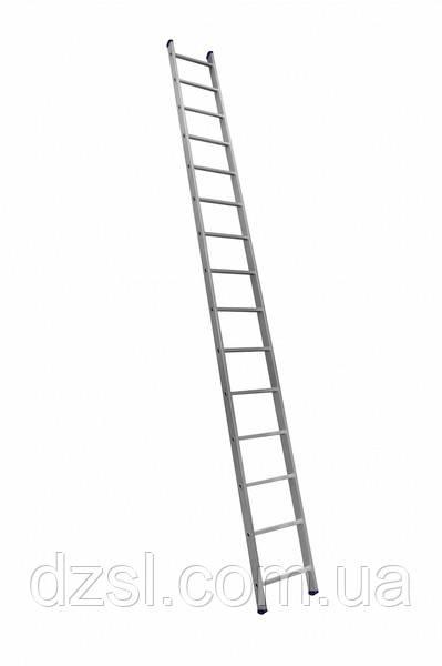 Алюминиевая односекционная приставная лестница на 15 ступеней (универсальная)