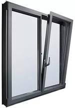 """Поворотно-откидное окно из """"холодного"""" алюминия, белое, Lorenzoline 40C, 1300*1400, фото 2"""