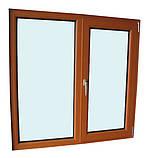 """Поворотно-откидное окно из """"теплого"""" алюминия, декорирование под дерево двухстор., Lorenzoline 54Т, 1300*1400, фото 2"""
