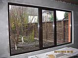 """Поворотно-откидное окно из """"теплого"""" алюминия, декорирование под дерево двухстор., Lorenzoline 54Т, 1300*1400, фото 4"""