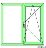 """Поворотно-откидное окно из """"теплого"""" алюминия, декорирование под дерево двухстор., Lorenzoline 54Т, 1300*1400, фото 7"""