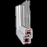 Двухчастное поворотно-откидное окно Aluplast 2000 (5 кам) 1300*1400, фото 2