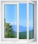 Двухчастное поворотно-откидное окно Aluplast 2000 (5 кам) 1300*1400, фото 3