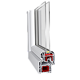 Двухчастное поворотно-откидное окно Aluplast Ideal 4000 (5 кам) 1300*1400, фото 2