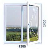 Двухчастное поворотно-откидное окно Aluplast Ideal 4000 (5 кам) 1300*1400, фото 3