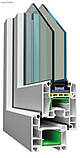 Двухчастное поворотно-откидное окно Лидер 3 кам 1300*1400, фото 2