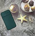 Чехол на iPhone 11 матовый цветной силиконовый зеленый с защитой камеры, фото 2
