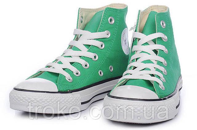 Кеды Converse All Star зеленые высокие