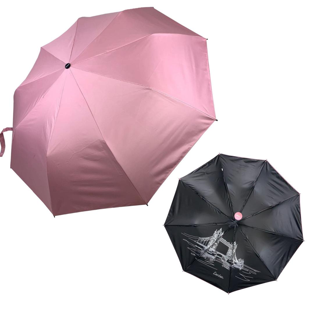 """Однотонный зонт-полуавтомат """"London"""" от фирмы """"Max"""", розовый, 3067-4"""