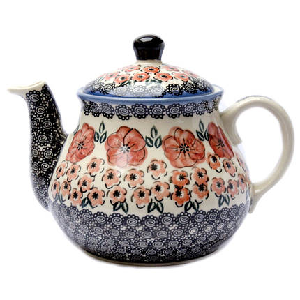 Заварочный керамический чайник 1,5L Red blossom, фото 2