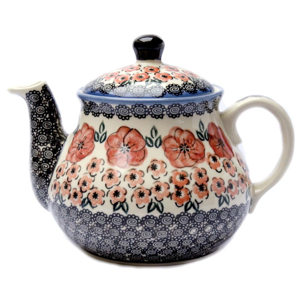 Заварочный керамический чайник 1,5L Red blossom