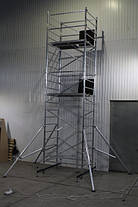 Вышка тура алюминиевая базовый комплект с площадкой ВТ12, фото 3