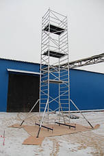 Вышка тура алюминиевая ВТ10 базовый комплект с тремя надстройками, фото 2
