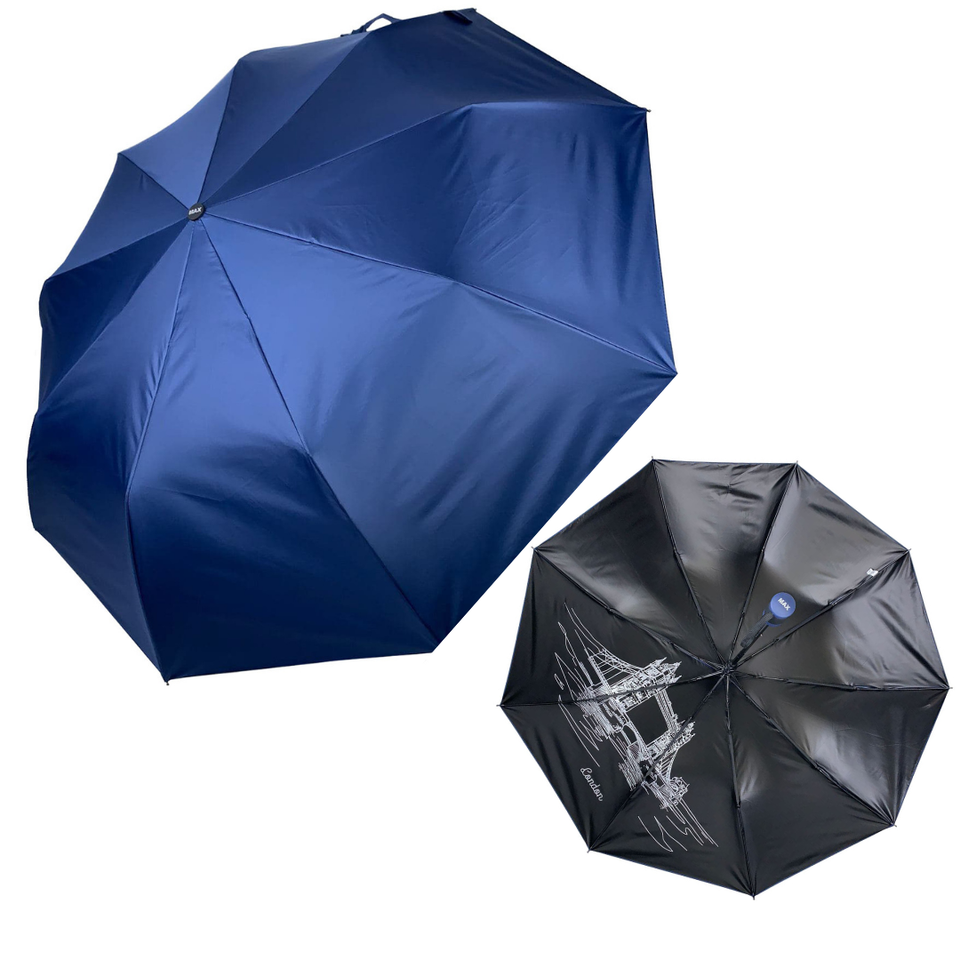 """Однотонный зонт-полуавтомат """"London"""" от фирмы """"Max"""", темно-синий, 3067-5"""