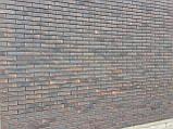 Кирпич клинкерный Керамейя КлинКерам 250x120x65мм Рустика Графит 6 Пр1 36% без торкрета(без посыпки), фото 6
