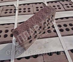 """Облицювальна цегла Літос """"Скеля"""" стандарт порожниста 250*120*65 Бордо, фото 2"""