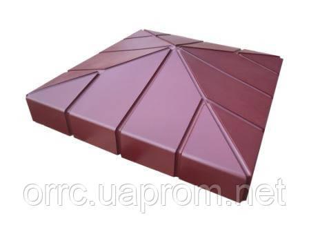 "Крышка на забор Мегалит ""Клинкер"" 555х555х135 мм"