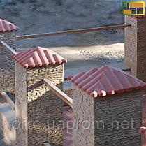 "Крышка на забор бетонная Мегалит ""Черепица"" 570х570х190 мм, фото 2"