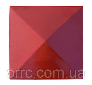 "Крышка на забор бетонная Мегалит ""Пирамида"" 385х385х60 мм, фото 2"