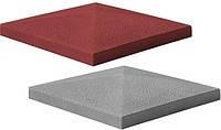 "Крышка на забор бетонная Мегалит ""Пирамида"" 385х385х60 мм, фото 3"