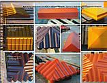 "Крышка на забор бетонная Мегалит ""Пирамида с основанием"" 445*445*105 мм, фото 5"