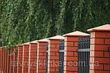 Клинкерная крышка на забор KingKlinker  красный (01) 310x310x80мм, фото 2