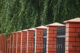 Клинкерная крышка на забор KingKlinker красный (01) 310x445x90мм, фото 2