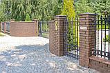 Клинкерная крышка на забор KingKlinker Коричневый (03) 445х585х106мм, фото 4