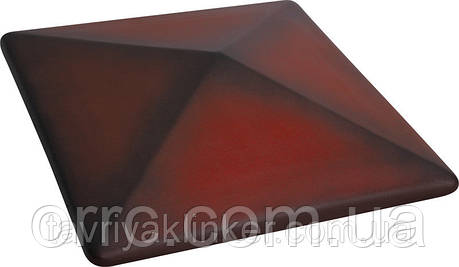 Клинкерная крышка на забор KingKlinker Дикое вино (04) 310х310х80мм, фото 2