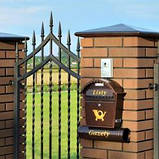 Клинкерная крышка на забор KingKlinker Таинственный сад (05) 310х310х80мм, фото 2