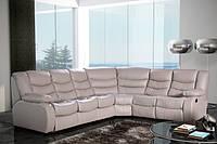 Кожаный угловой диван релакс, угловой диван Regan
