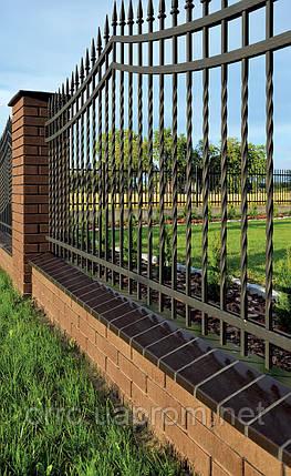 Клинкерная крышка на забор KingKlinker Ониксовый чёрный (17) 310х310х80, фото 2