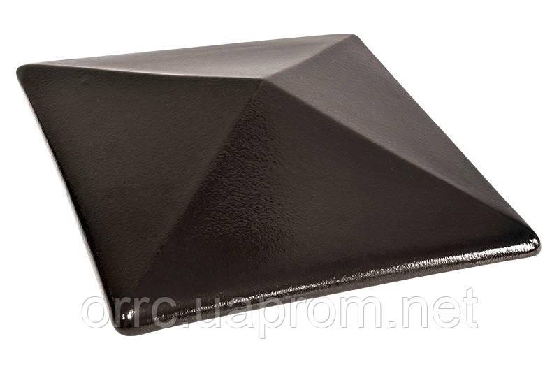 Клинкерная крышка на забор KingKlinker Ониксовый чёрный (17) 445х585х106